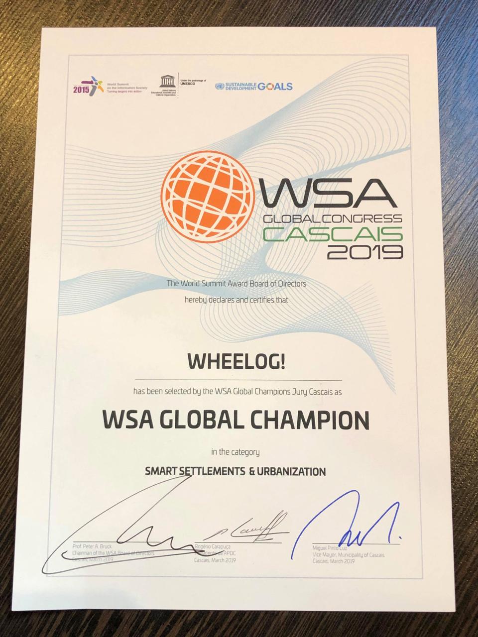 WSA GLOBAL CHAMPION